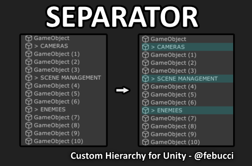 2020 febucci custom hierarchy for unity separator